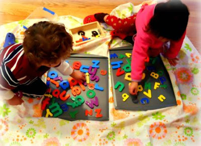 magnetic letter play for kids