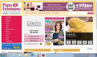 Acesse o site da revista Malu