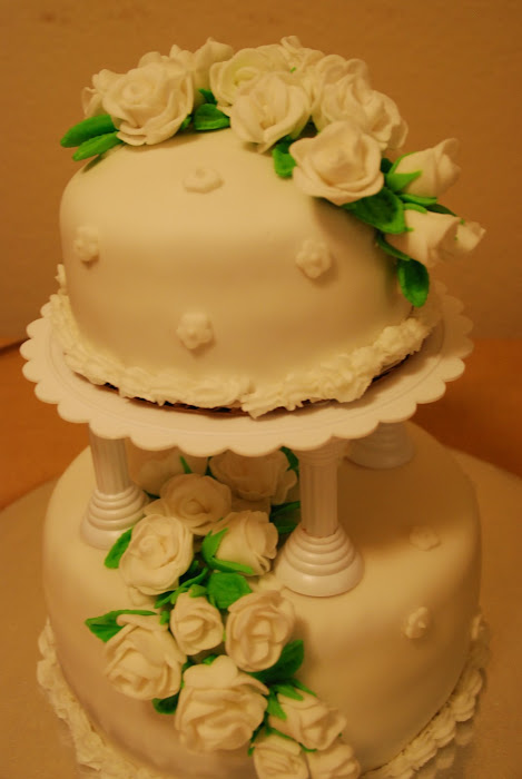 PURE WHITE ROMANCE WEDDING CAKE