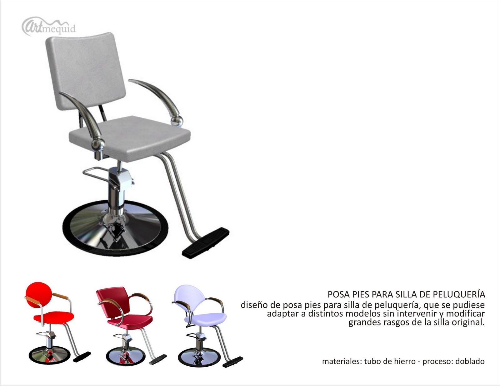 Portafolio posa pie para sillas de peluquer a for Sillas de peluqueria