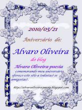 O SELO DE COMEMORAÇÃO DO ANIVERSÁRIO DO AMIGO ALVARO OLIVEIRA. OBRIGADA AMIGO