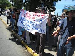 Manifestación durante el Foro en hospital 21-01-08