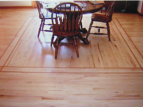 Maple Floor with Cherry Inlay