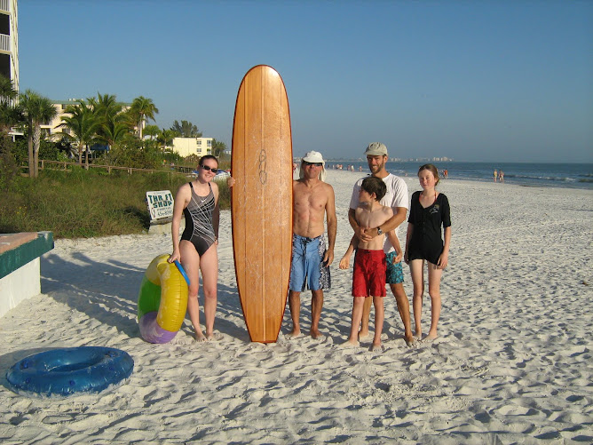 Surfing and beaching it with friends in Ft Myers Beach.