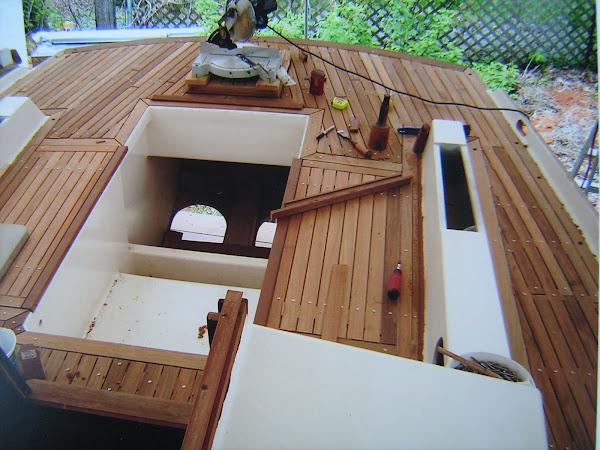 Install teak decks