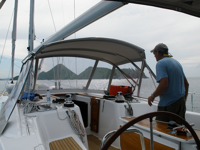 Mike and a friend, Simon deliever a Beneteau 50.