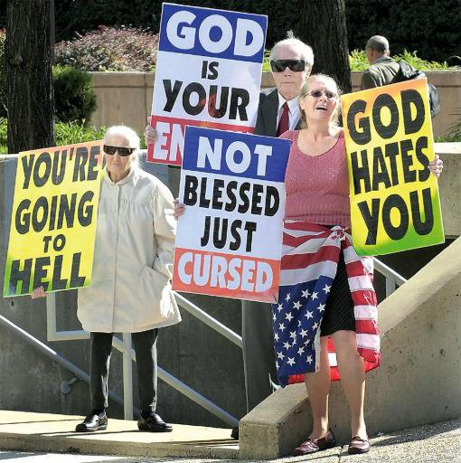 Pastor Fred Phelps is staging protest against Jews, Gays and Lesbians and ...
