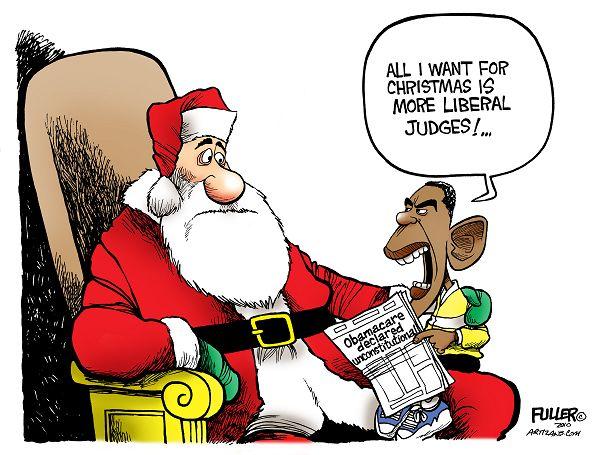 christmas cartoon 14 santa gets obamas request