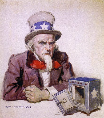 broke uncle sam cartoons
