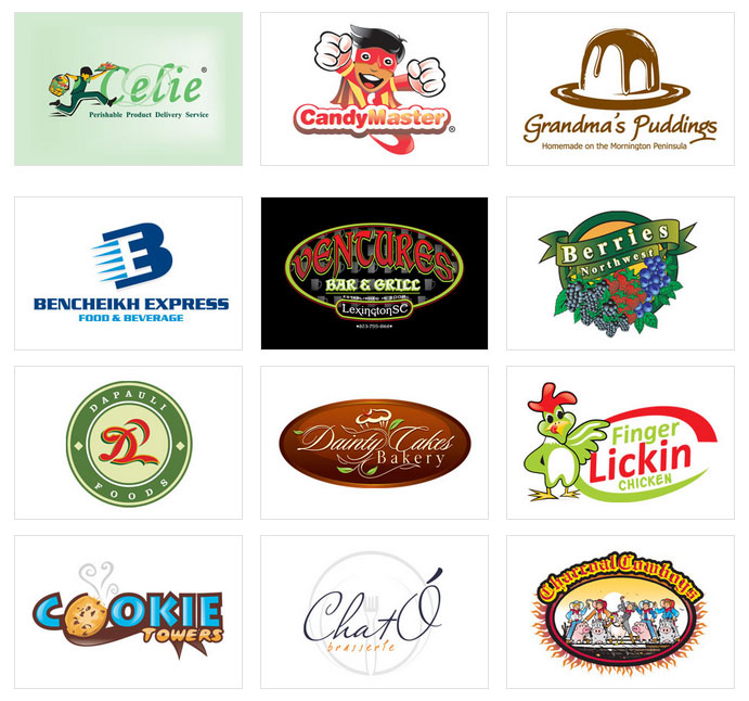 Food and beverages logo design food and beverages logo designing food