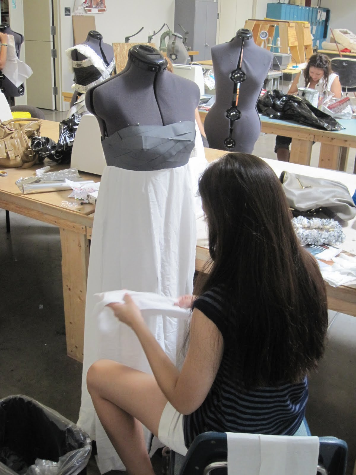 Fashion+students+work+on+Go+Green+007 Best Sewing Machine for Fashion Students