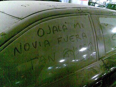 coche sucio guarra