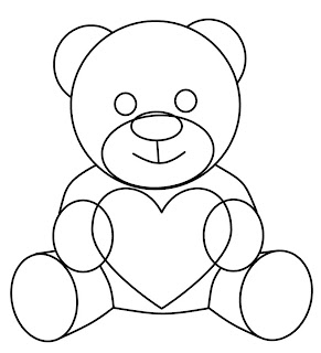 How To Draw Valentine Teddy Bear Drawings