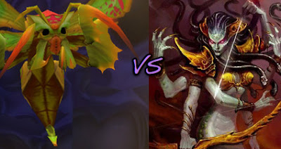 Lady Vashj vs. Princess Huhuran