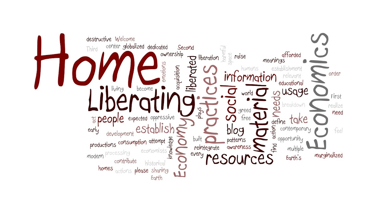 Liberating home economics my home ec definition in wordle for Home economics