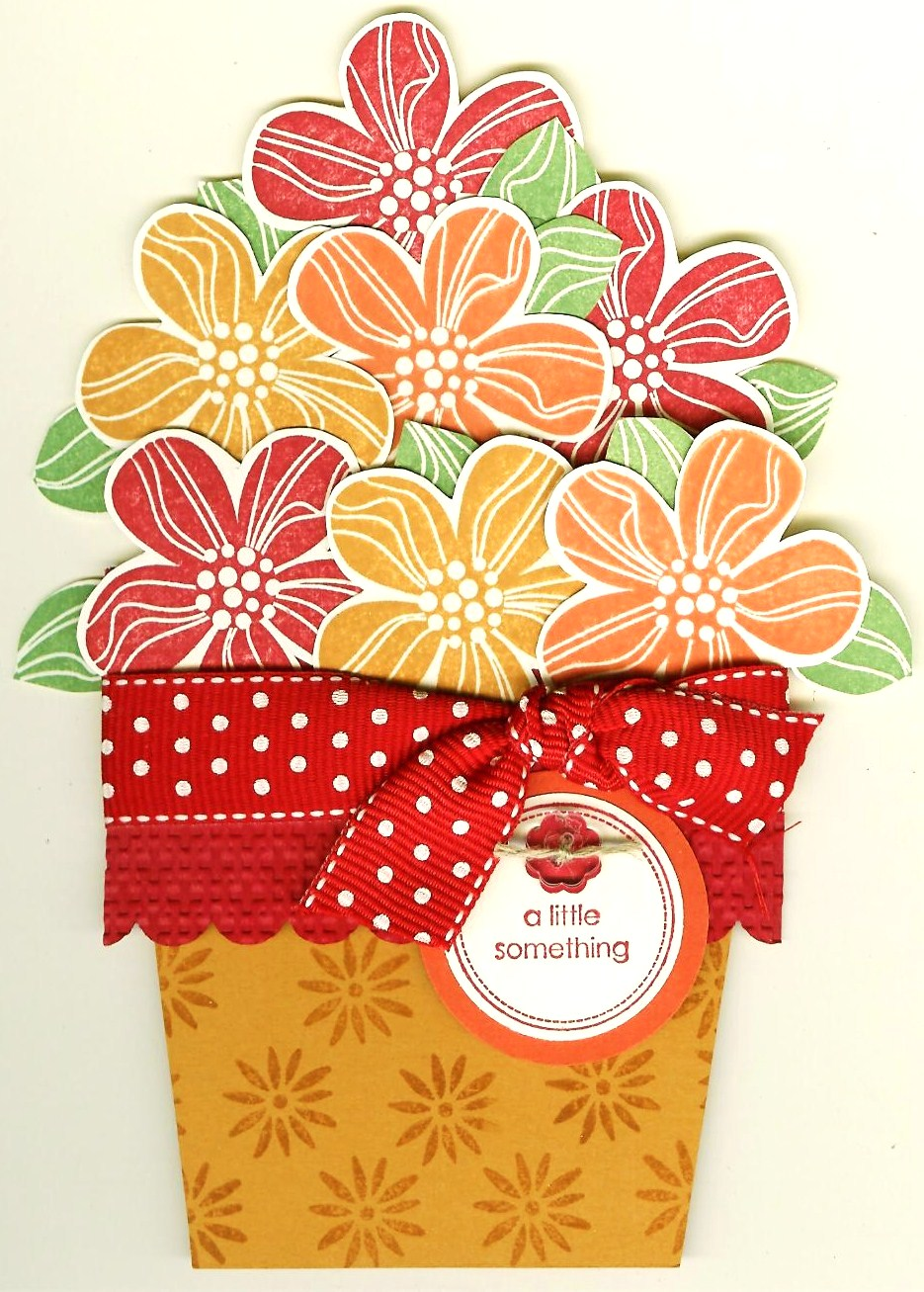 Nostalgic Collage Flower Pot Pull Out Card