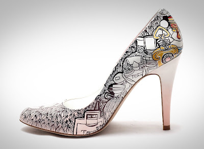 hand painted shoe art