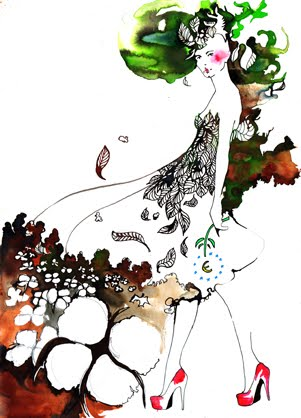 Style Gourmand: Fashion Illustrations by Amelie Hegardt