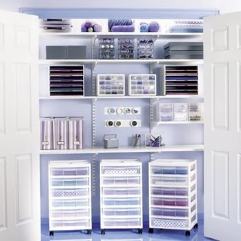 Closet Craft Room Storage Ideas