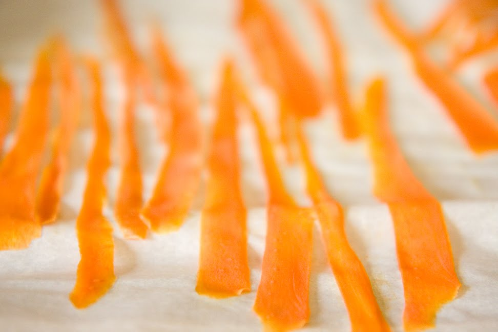 Candied Carrot Curls | Cupcake Project