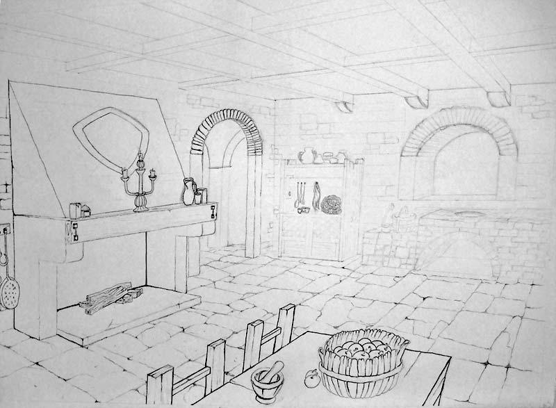 Una stanza medievale tania sketch book for Semplici piani di una stanza