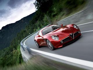 2009 Alfa Romeo 8C Competizione Front Angle Speed Tilt-1