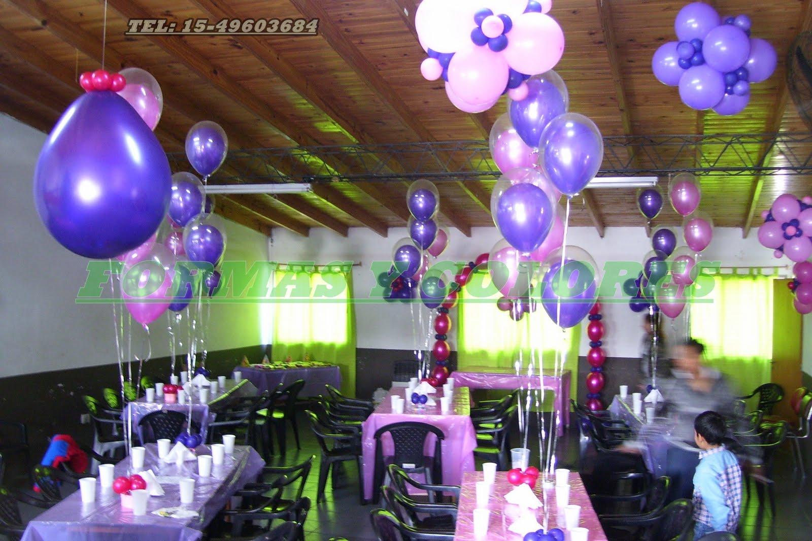 Decoracion con globos - Decoracion para foto ...