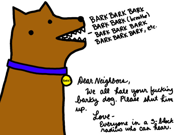 The Neighbors Dog Barks Pictures From The Invisible