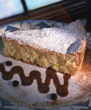 Lindaraxa: Flourless Almond Torte with Chocolate Coffee Sauce