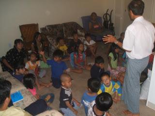 >Burmese School in Denver turns One Month