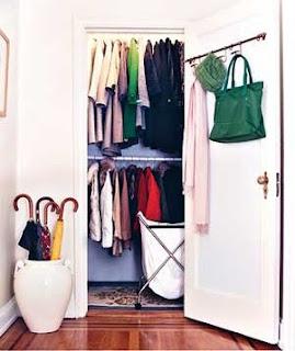 Organized Entry Closet | organizingmadefun.com