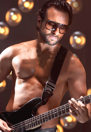 Shirtless Saif with Guitar