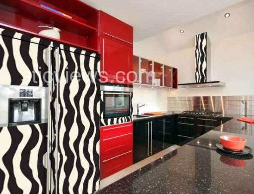 The sunny sunflower house zebra kitchen for Zebra kitchen set