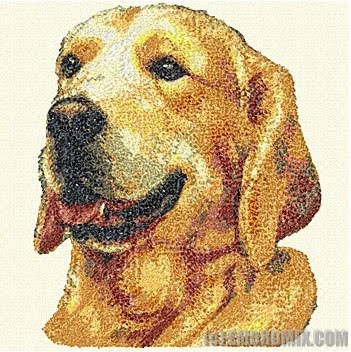 machine embroidery dogs