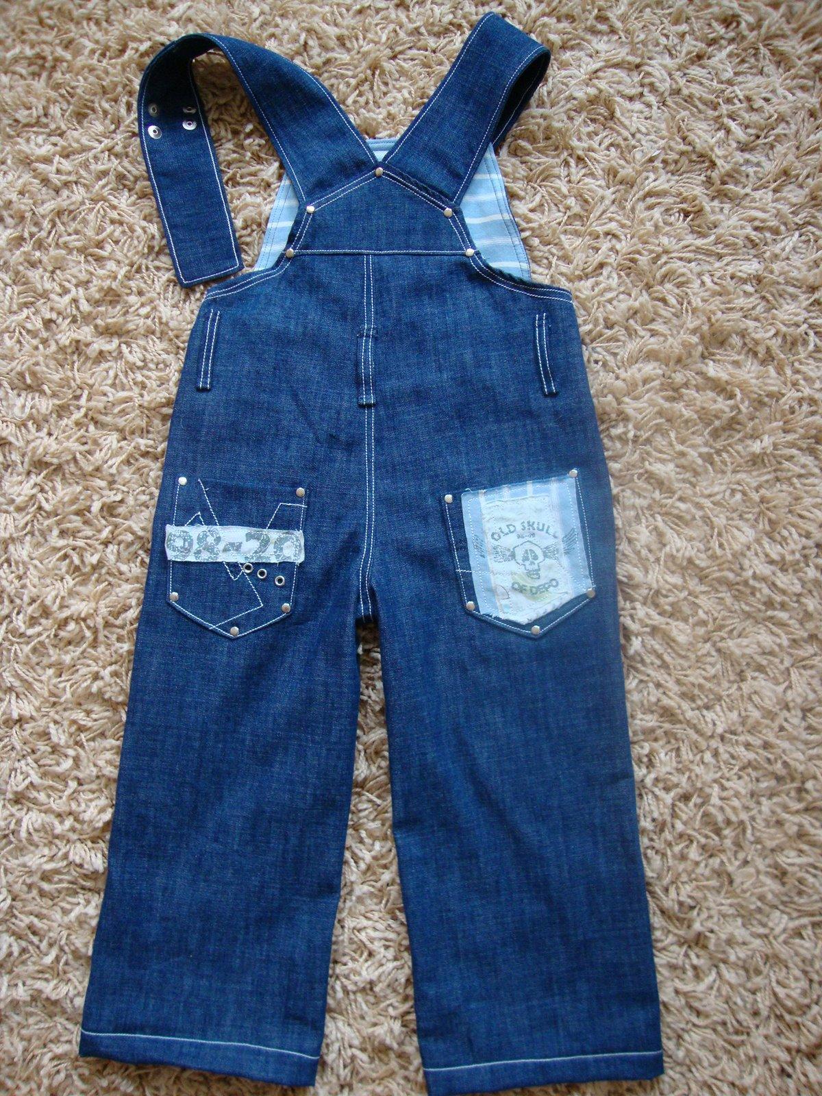 Из джинс сшить детский комбинезон