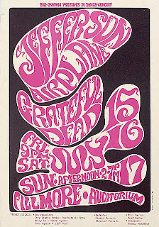 Grateful Dead & Jefferson Airplane July 15th-17th 1966 Poster