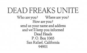 Grateful Dead Freaks Unite