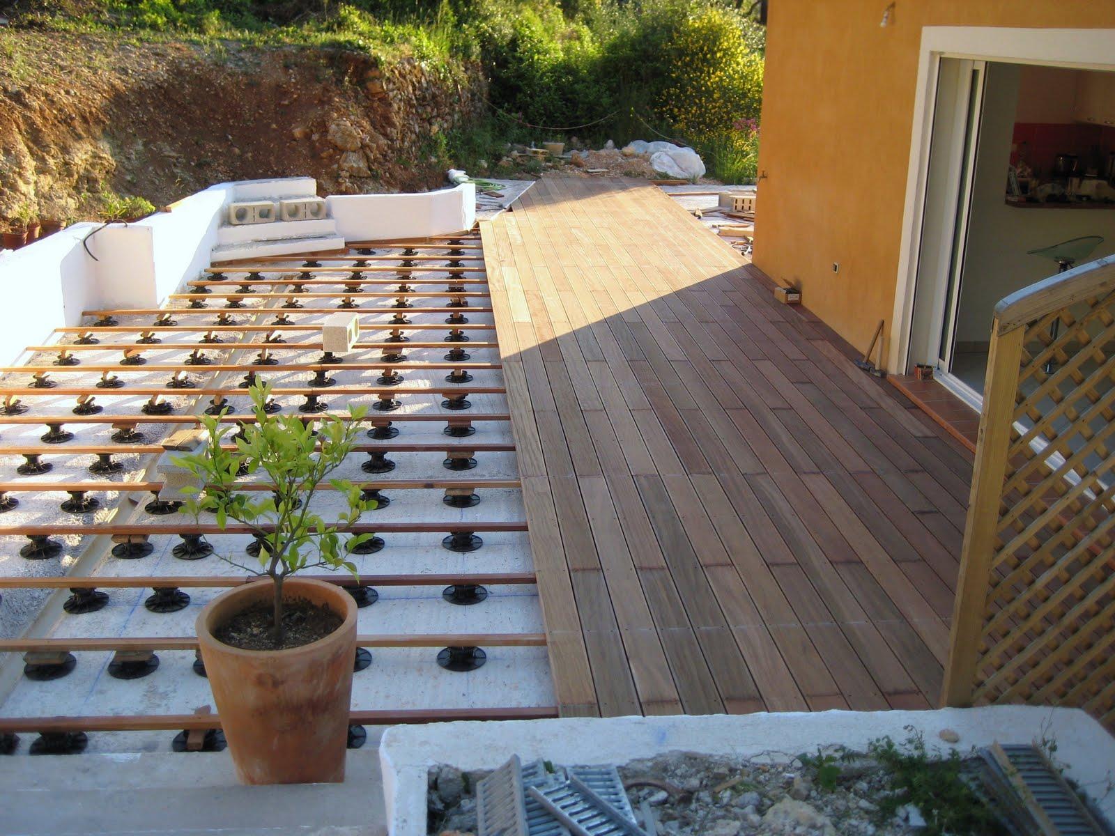 corinne et sebastien chantier terrasse bois. Black Bedroom Furniture Sets. Home Design Ideas