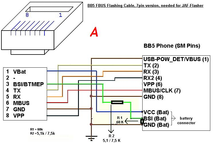 mad mobile guru modification for fbus cable bb5