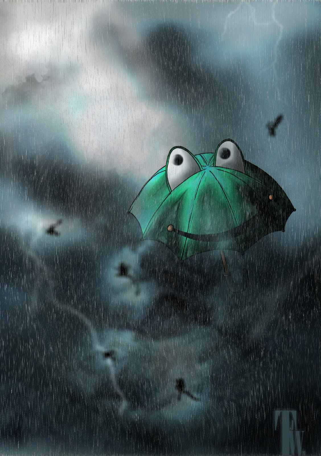 Raining Frogs Report of frogs raining in