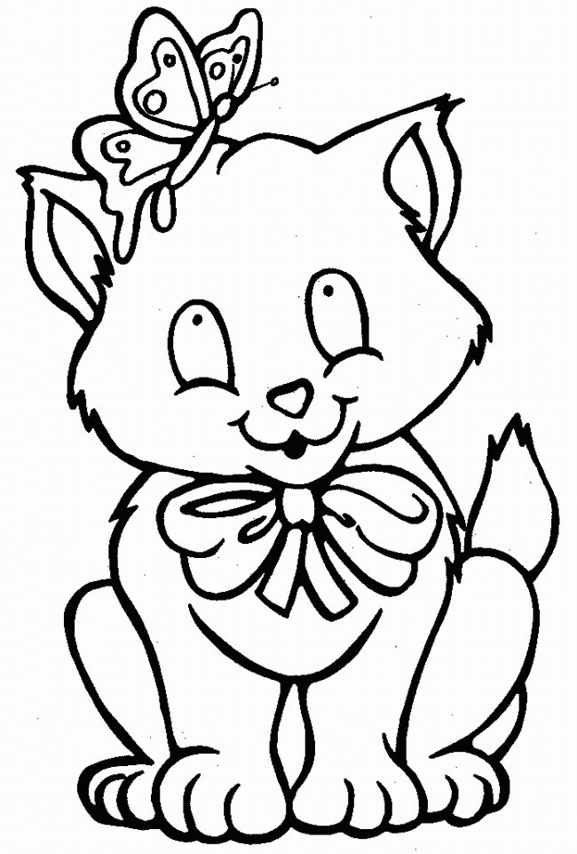 Kitty Cat Coloring Pages Free Printable Pictures Cat Printable Coloring Pages