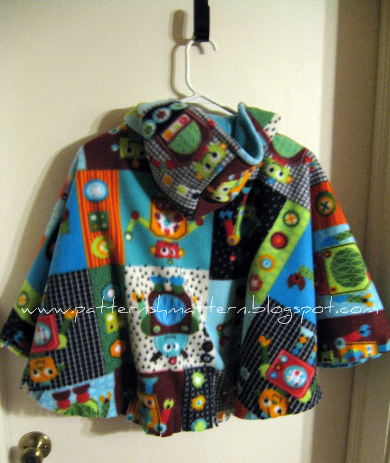 Reversible Car Seat Poncho Tutorial