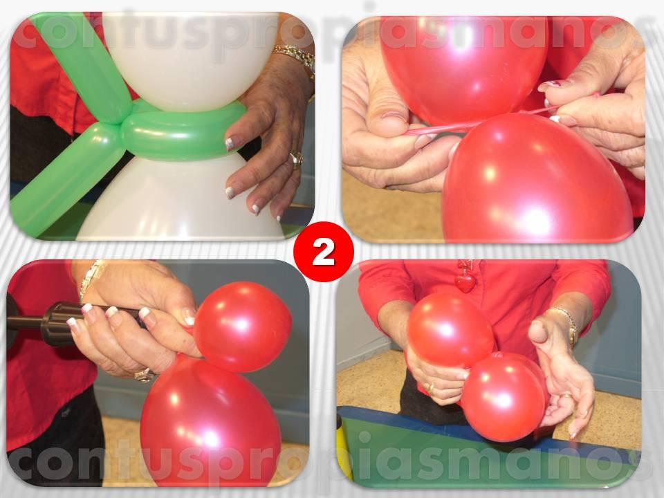 Con tus propias manos como hacer un mu eco de nieve con - Hacer munecos con globos ...