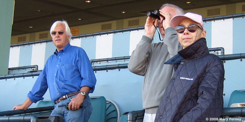 Bob Baffert with Arnold and Ellen Zetcher