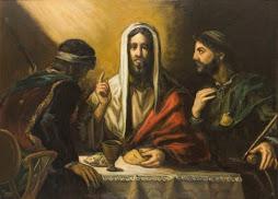 El símbolo de la fracción del pan en Emaús...
