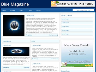 Magazine theme for blog