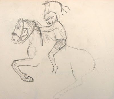 Rearing Horse and Rider_My AZ Sketchbook p 2