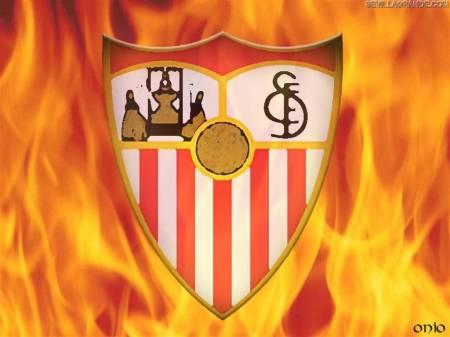 escudo sevilla ardiendo: