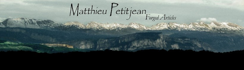 Matthieu Petitjean, knife, sword, axe, blacksmith, damascus, steel, master art, blade