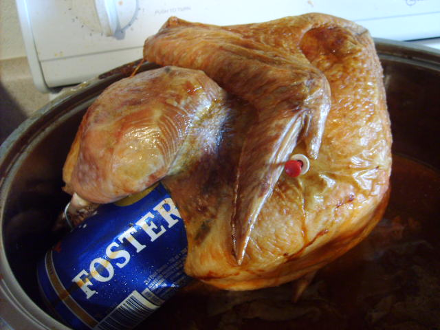 Smoked Beer-Can Turkey Recipe — Dishmaps